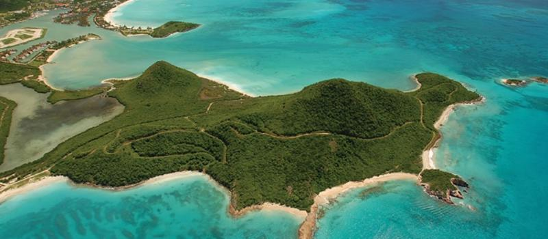 Lugar donde se construirá el proyecto Pearns Point en Antigua y Barbuda (isla ubicada en el caribe Centroamericano). Captura sitio web pearns-point-antigua.com