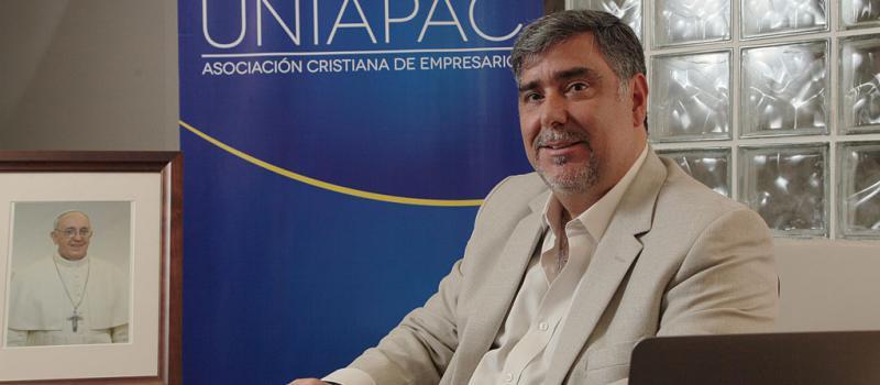 Entrevista a Francisco Jarrín, Presidente de la Asociación Cristiana de Empresarios. Foto: Enrique Pesantes/ LIDERES.
