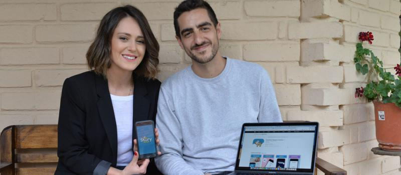 Los esposos Daniela Vega y Francisco Cornejo crearon el emprendimiento por un requerimiento familiar. La idea surgió cuando vivían en Australia. Fotos: Cortesía Storybook